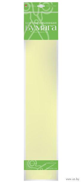"""Бумага креповая """"Пастельные цвета"""" (50х250 см; кремовая) — фото, картинка"""