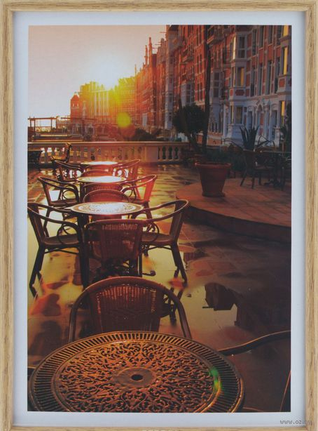 "Фоторамка пластиковая ""Poster lux wood"" (21x29,7 см) — фото, картинка"