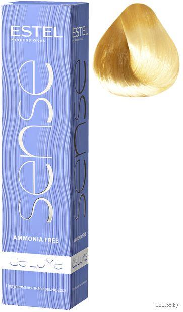 """Крем-краска для волос """"Sense De Luxe"""" тон: 10/75, светлый блондин коричнево-красный — фото, картинка"""