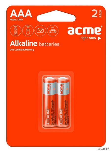 Батарея гальваническая щелочная LR03 AAA (6 шт)