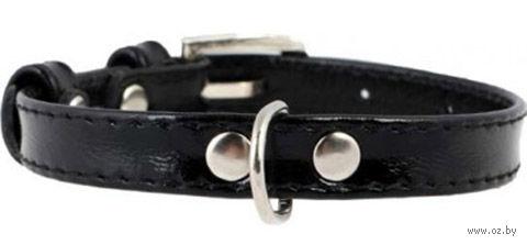 Ошейник для щенков и собак мелких пород (18-21 см; черный)
