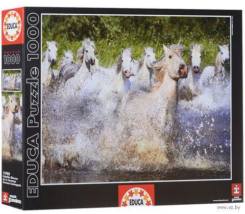 """Пазл """"Белые камаргские лошади"""" (1000 элементов)"""