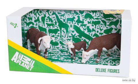 """Набор фигурок """"Animal Planet: Херефордские коровы"""" (3 шт.)"""