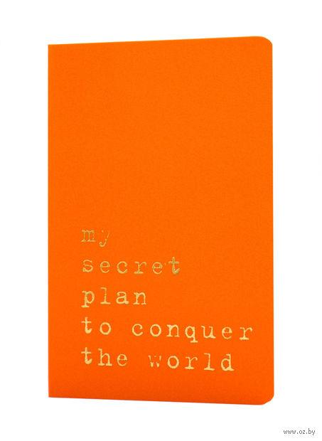 """Записная книжка Молескин """"Volant. My Secret Plan"""" (А6; оранжевая)"""
