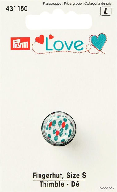 """Наперсток """"Love"""" (металл; 15 мм) — фото, картинка"""