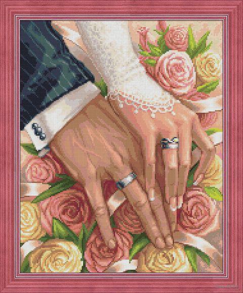 """Алмазная вышивка-мозаика """"В день свадьбы"""" (400х500 мм) — фото, картинка"""