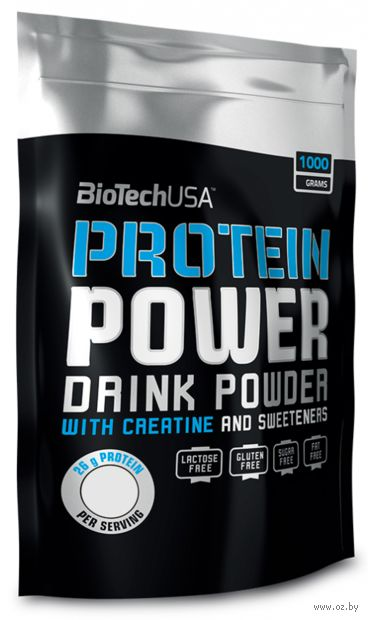 "Протеин ""Protein Power"" (1000 г; клубника-банан) — фото, картинка"