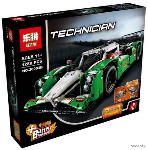 """Констуктор Technician """"Зеленый гоночный автомобиль"""" — фото, картинка"""