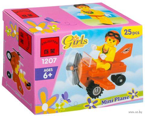 """Конструктор """"Girls. Мини-самолет"""" (25 деталей) — фото, картинка"""