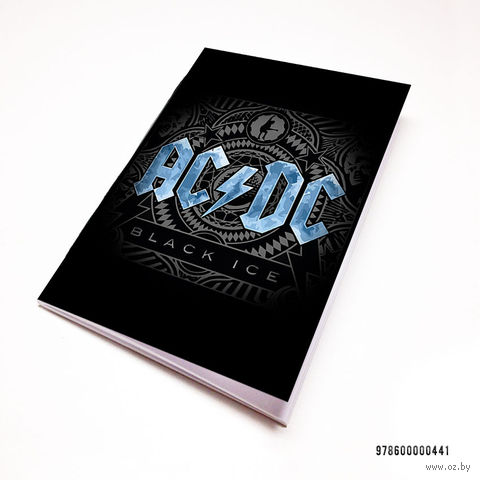 "Блокнот белый ""AC/DC"" А7 (441)"