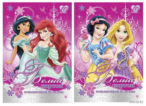 """Картон белый """"Princess"""" А4 (10 листов)"""