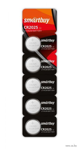 Литиевый элемент питания Smartbuy CR2025/5B (100/4000) (SBBL-2025-5B)