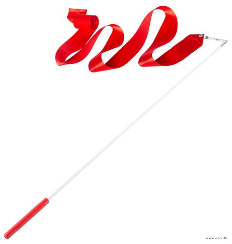 Лента для художественной гимнастики AGR-201 (4 м; красная) — фото, картинка