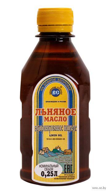 "Масло льняное ""Василева слобода"" (250 мл) — фото, картинка"