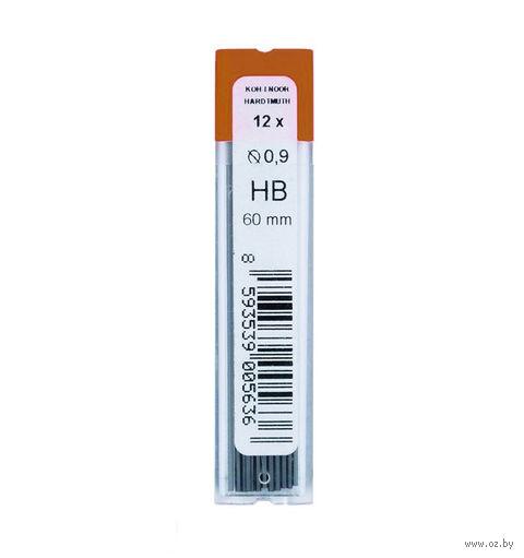 Стержни для автоматического карандаша 4172/HB (твердость: HB; 0,9 мм; 12 шт)