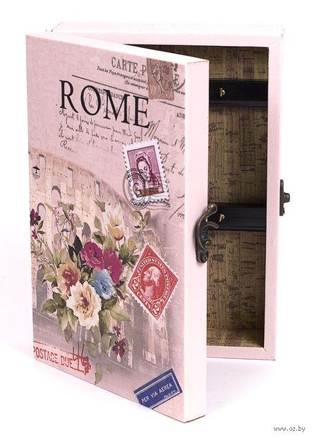 Ящик для ключей деревянный настенный (25,5х18,5х6,5 см; арт. 7790123)