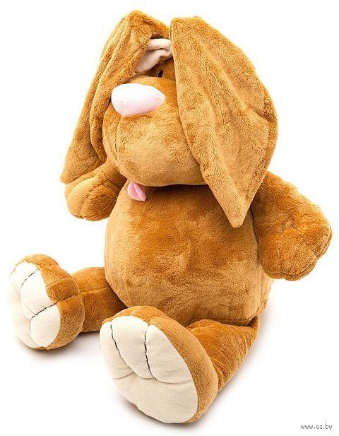 """Мягкая игрушка """"Кролик коричневый сидячий"""" (40 см) — фото, картинка"""