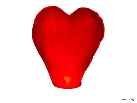 Небесный фонарик в форме сердца (цвета в ассортименте)