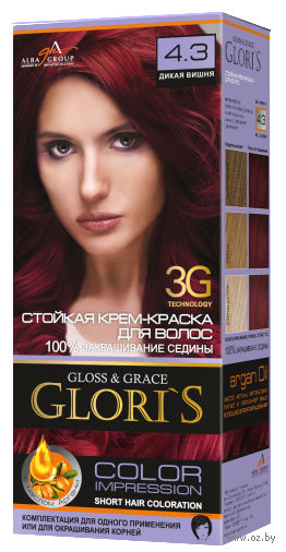 Крем-краска для волос (тон: 4.3, дикая вишня) — фото, картинка