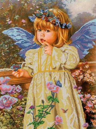 "Канва с нанесенным рисунком ""Ангел"""