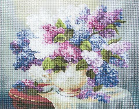 """Алмазная вышивка-мозаика """"Сирень на столе"""" — фото, картинка"""