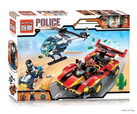 """Конструктор """"Police. Погоня за внедорожником"""" (405 деталей) — фото, картинка"""