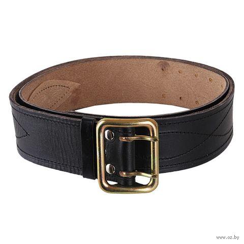 Ремень кожаный (136 см; чёрный) — фото, картинка