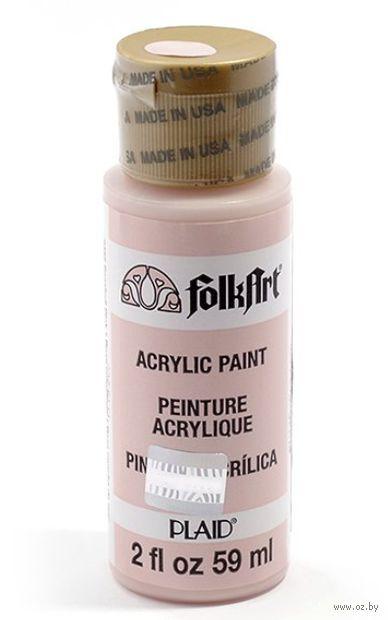 "Краска акриловая ""FolkArt. Acrylic Paint"" (розовая ракушка, 59 мл; арт. PLD-02485)"