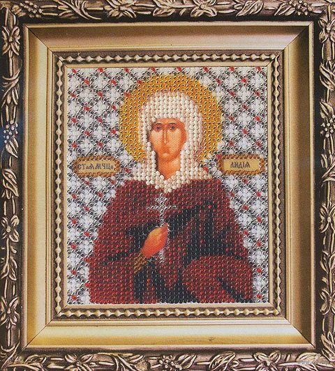 """Вышивка бисером """"Святая мученица Лидия"""" (90х110 мм) — фото, картинка"""