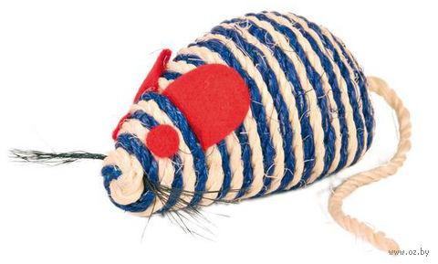 """Игрушка для кошек с кошачьей мятой """"Мышка"""" (10 см; арт. 4074) — фото, картинка"""