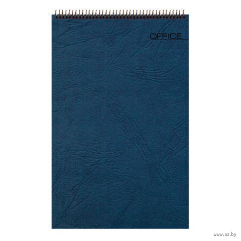 """Блокнот в клетку """"Office"""" (А5; синий) — фото, картинка"""