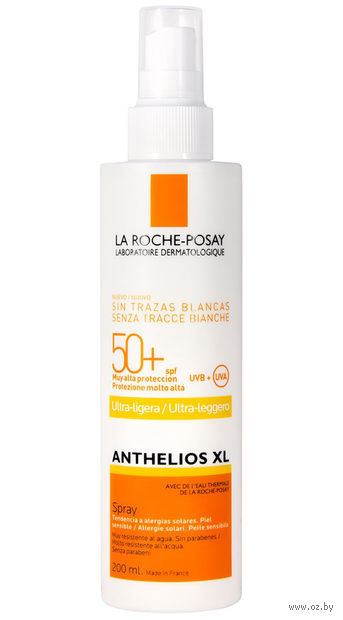 "Спрей солнцезащитный для тела ""Anthelios"" SPF 50+ (200 мл) — фото, картинка"