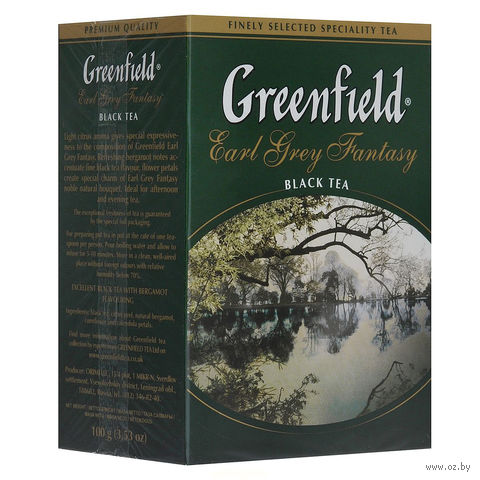 """Чай черный листовой """"Greenfield. Earl Grey Fantasy"""" (100 г) — фото, картинка"""