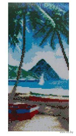 "Алмазная вышивка-мозаика ""Пляж"" (170х400 мм) — фото, картинка"