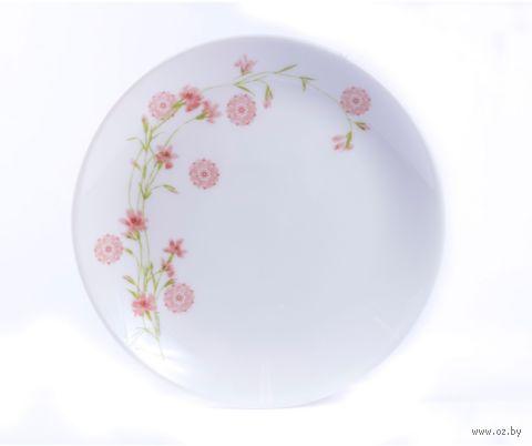 "Тарелка стеклокерамическая ""Diwali Romance Pink"" (190 мм) — фото, картинка"
