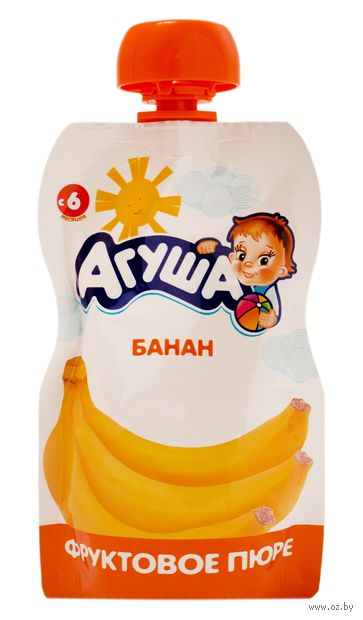 "Детское пюре Агуша ""Банан"" (90 г) — фото, картинка"