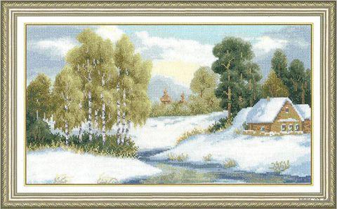 """Вышивка крестом """"Ранний снег"""""""