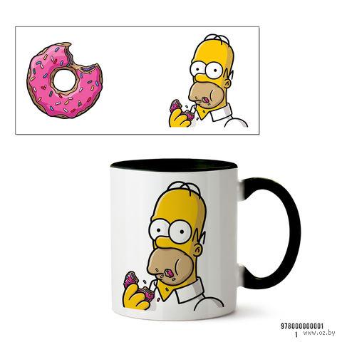 """Кружка """"Симпсоны"""" (001, черная)"""