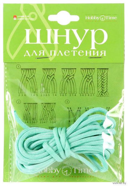 Шнур для плетения (3 м; зеленый мятный) — фото, картинка