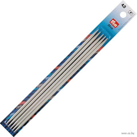 Спицы чулочные для вязания (алюминий; 4 мм; 20 см) — фото, картинка
