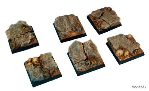 "Подставка квадратная ""Скалы"" (25х25 мм; 5 шт.) — фото, картинка"
