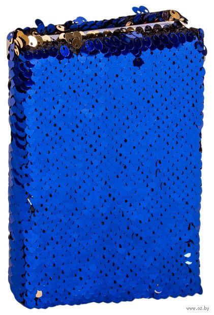 """Записная книжка в клетку """"Пайетки"""" (А6; арт. DV-11684) — фото, картинка"""