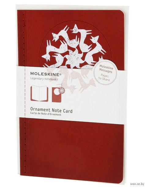 """Набор для письма Молескин """"Ornament Card Foxtrot"""" (большой; мягкая красная обложка)"""