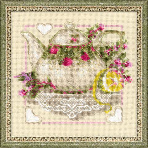 """Вышивка крестом """"Чай с лимоном"""" (арт. 1477)"""