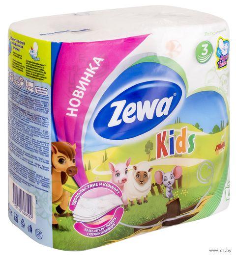 """Туалетная бумага """"Zewa Deluxe. Kids"""" (4 рулона)"""