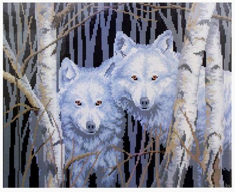 """Алмазная вышивка-мозаика """"Пара волков"""" (400x500 мм) — фото, картинка"""