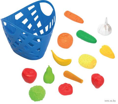 """Игровой набор """"Фрукты и овощи в корзинке"""" — фото, картинка"""
