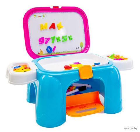 """Детский учебный столик-табурет """"Скоро в школу"""" — фото, картинка"""