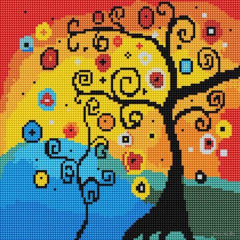"""Алмазная вышивка-мозаика """"Древо счастья"""" (300х300 мм) — фото, картинка"""
