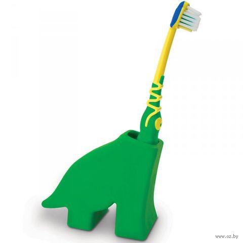"""Держатель для зубной щетки """"Dinosaur"""" (зеленый)"""